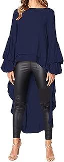 Women Irregular s Shirt Long Sleeve Sweatshirt Pullovers Tops Blouse