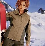 Snowboardjacke Hightech Mujer Chaqueta de Snowboard en Dos Colores - Oliva Brillante marrón, 44 XL