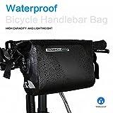 Intsun Wasserdichte 3-Liter-Lenkstangentasche, Radfahren, Mountainbikes, MTB, Lenkertasche, PVC-Tasche, Rahmentasche, Roll-Top-Verschluss, Fahrradtasche - 2