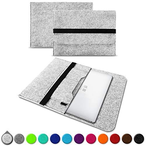 UC-Express Sleeve Hülle kompatibel für Trekstor Primebook C13 / P14 / P13 / P14B Tasche Filz Notebook Cover 13,3-14 Zoll Laptop Hülle, Farben:Hell Grau