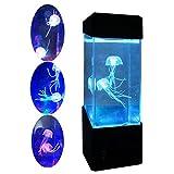 Medusas Lámpara Eléctrica Medusas Tanque Acuario - LED Fantasía Medusas Lámpara Color Cambiar La Lámpara De Humor/Carga USB - Decoración Del Hogar Lámpara Mágica De Regalo Un