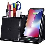Support de bureau organiseur de bureau, chargeur sans fil rapide 10 W, accessoires de bureau, pour...