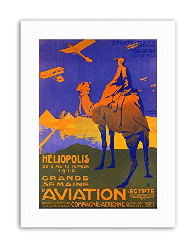 Wee Blue Coo LTD AIR Show Egypt Camel Pyramid Poster Exhibition Canvas Art Prints
