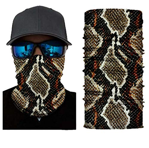 GBxebenYN02 Elastic Neck Protector Yoga Riding Motorcycle Riding Burmese Python Outdoor Sports Fashion Hair Accessories Printed Scarf