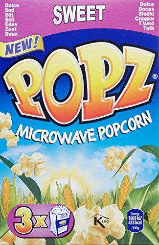Popz Mikrowellen Popcorn Süß, 6er Pack (6 x 270 g)