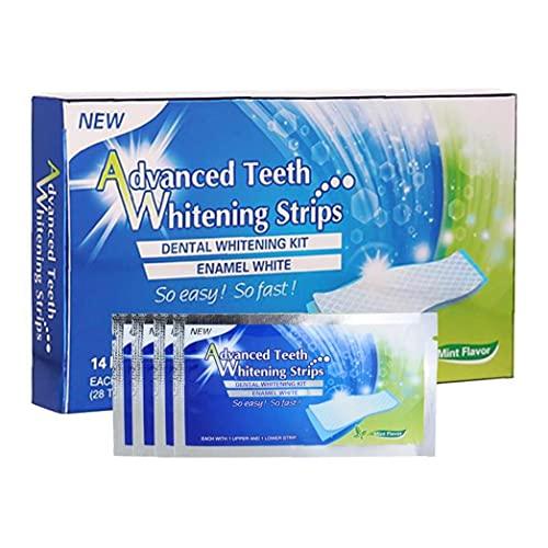 NiceJoy Schönheitspflegeprodukte Whitening Zahnpasta Streifen Zähne Reduzierte Sensitive 3D weiße elastische Gel Mundhygiene Doppel Elastic für Entfernen von Flecken 14pairs
