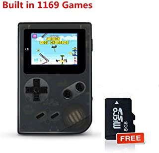 BAORUITENG Handheld Games Consoles , Retro TV Game Console Video Game Console Player 2.0 Inch Game Console with 1169 GBA System Classic Games for Kids Gift (White)