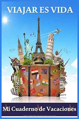 cuaderno de vacaciones: cuaderno de vacaciones para adultos : Cuaderno / diario forrado, 120 páginas, 6x9, tapa blanda, acabado mate