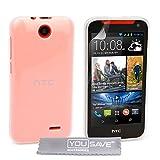 Yousave Accessories Custodia per HTC Desire 310 Chiaro Trasparente Silicone Gel