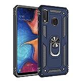 Max Power Digital Funda para móvil Samsung Galaxy A20e Anillo Giratorio 360 Metálico Imán Magnético Carcasa Rígida Antigolpes Resistente Soporte Bumper Case (Samsung Galaxy A20e, Azul)