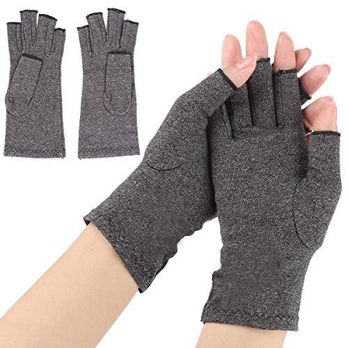 Anti-Arthritis-Handschuhe, 1 Paar, Kompressionsbandage für Gelenke, Finger, Handgelenk, hohe Elastizität, Schmerzlinderung für Hände und Gelenke (Größe : L)