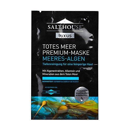 Salthouse Luxus Totes Meer Premium MEERES-ALGEN MASKE - 10 Einheiten mit je 2 x 5ml (für 20 Anwendungen)