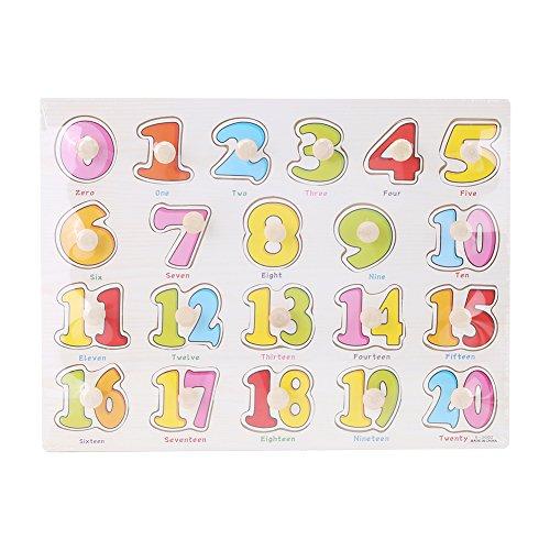 Puzzles de Madera Magnéticos Juquetes Infantil Juquetes Educativos para Niños y Bebes Juquetes para Conocer Números Frutas Animales(1# numeros)