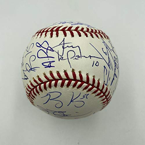 Mint 2005 St. Louis Cardinals Team Signed Baseball Albert Pujols Molina JSA - Autographed Baseballs