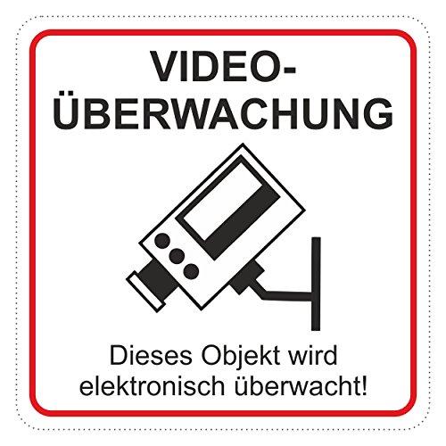 Autocollant Videoüberwachung ... 65 x 65 mm