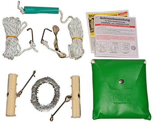 Handkettensäge – Mit verchromter Kette – LEISE, SCHARF und FLEXIBEL – Sägen Sie so leicht und sicher wie nie – 90 Kettenglieder – 82cm Länge – C344468 (Standard)