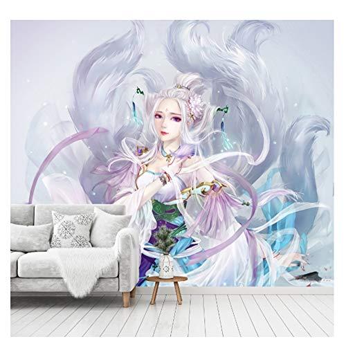 LJIEI Tapete Anime Fototapete Selbstklebend Tapete Wandtapete Wandbilder Klebefolie Dekofolie Tapetenfolie Wand Dekoration Wohnzimmer