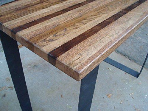 Amazon.com: Wood Bar Table High Top Kitchen Table Pub Table Steel Legs Industrial Dining Table: Handmade