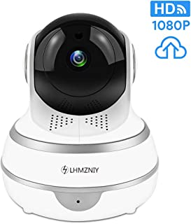 Full HD 1080p WiFi Home Security Camera Pan/Tilt/Zoom - Work with Alexa - Wireless IP Indoor Security Surveillance System Night Vision, Motion Track, Remote Baby/Pet Monitor with iOS Android