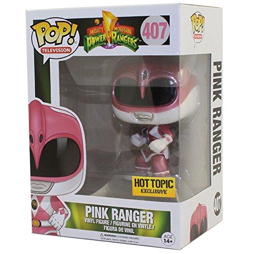 Funko 12577–Power Rangers Ranger, Rosa Metalico
