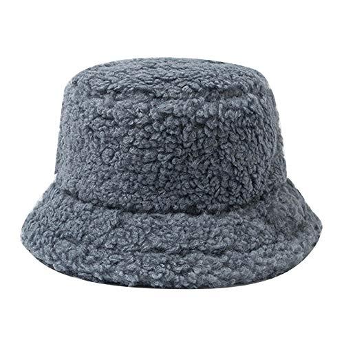 N\A Doble Cara Color Sólido Cubo Sombrero Hombres y Mujeres Moda Señoras Tapas Verano Panamá triste niño plegable protector solar Pesca sombrero de pescador