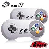 miadore Wireless USB Controller für SNES Emulator, 2 Pack 2.4G USB Gamepad Joystick SNES Game...