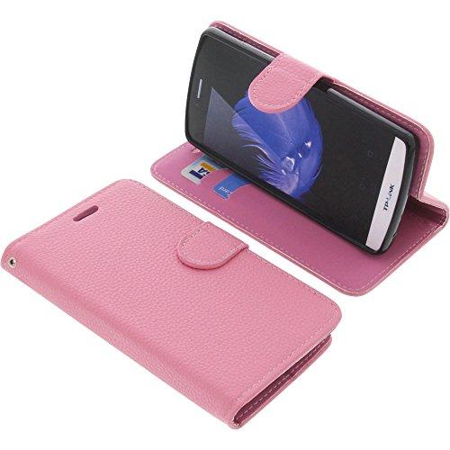 foto-kontor Tasche für TP-Link Neffos C5L Book Style pink Schutz Hülle Buch