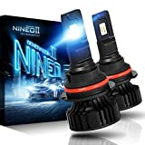 NINEO 9004 LED Headlight Bulbs | CREE Chips 12000Lm 6500K Extremely Bright All-in-One Conversion Kit | 360 Degree Adjustable Beam Angle