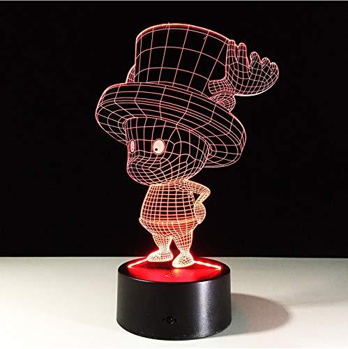 One Piece Schiff Boot Tony Chopper Luffy 3D Led Licht Tischlampe Rgb 7 Farbwechsel Nachtlichter Touch/Fernbedienung