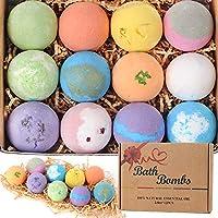 12 natuurlijke badbommen 2.8 oz, natuurlijke etherische olie handgemaakte aroma-bubbelbad koolzuurhoudende spa voor...