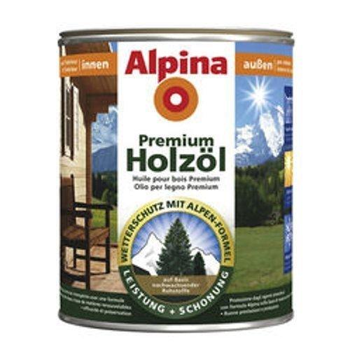 Alpina Premium Holzöl, 750 ml, Innen & Außen, Douglasie