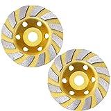 iplusmile Muelas Abrasivas de 2 Piezas Segmento 10 Cm de Diamante de La Muela de Disco de Disco de Pulido de Cuchillas de Pulido de Mármol de Hormigón de Granito