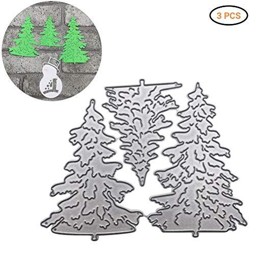 Kerstmis Die Snijden Sjabloon DIY Kerstboom Die Snijden Die Snijmachine voor Scrapbooking Card Craft Zilver
