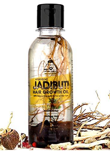 Urbangabru Ayurvedic Jadibuti Hair Oil for Hair Fall Control and hair Growth with Natural Herb - 200 ml (Control Hair Fall and...