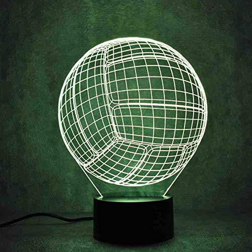 CDBAMX 3D Led Luminaire Coloré Luminaire Usb Lampe De Table Balle Forme Ballon De Ballon De volley Lampe Bébé Dormant Veilleuse Cadeaux