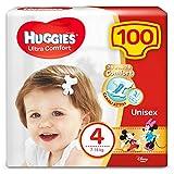 Huggies Huggies Pannolini Ultra Comfort, Taglia 4 (7-18 Kg), Confezione Da 100 Pannolini - 3120 g