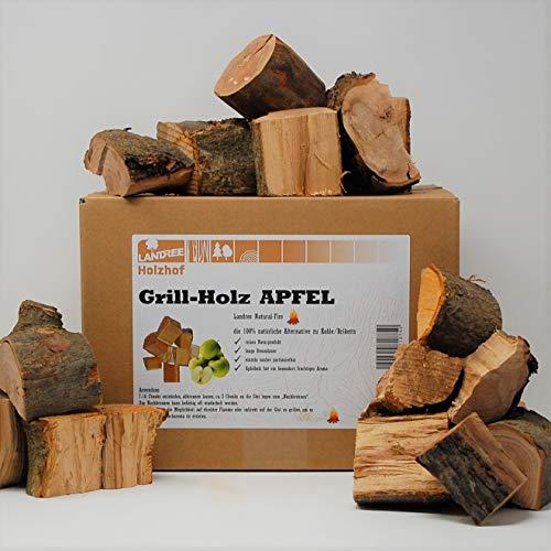 Landree® Apfel Grillholz Wood Chunks 3,5KG - Apfelholz mit AromaRinde