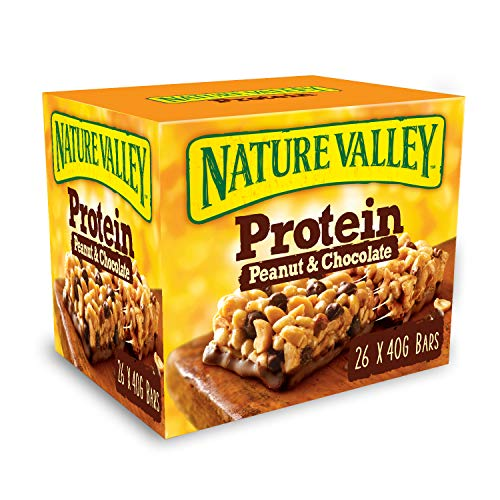 Nature Valley Protein Peanut & Chocolate Gluten Free Cereal Bars 26 x 40g