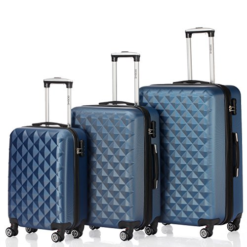 Zwilling - Juego de 3 maletines con ruedas - Rígidas -12 Colores