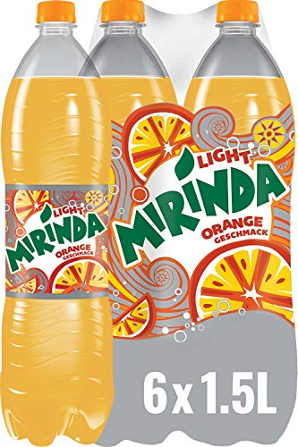 Mirinda Light, Das Original in Orange Light, Limonade mit fruchtigem Orangengeschmack (6 x 1,5 l)