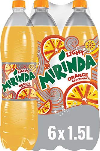 Mirinda Light, Das Original in Orange Light, Limonade mit fruchtigem Orangengeschmack (6 x 1,5 l)