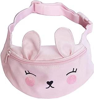 Fashion Small Cartoon Canvas Travel Pink Cute Waist Fanny Pack Bag Purse For Little Kids Babies Girls Toddler Children Sport Running Camping Trip