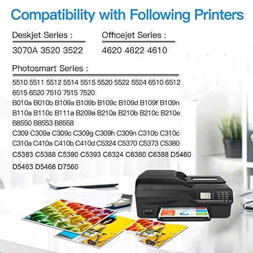 GLEGLE HP364XL Cartuchos de Tinta 10 Reemplazo para HP 364 364XL Alta Capacidad para HP Photosmart 5520 5510 5522 5524 6520 7510 7520, 4622 6510 5515 B110A B8550 HP OfficeJet 4620, HP Deskjet 3070A