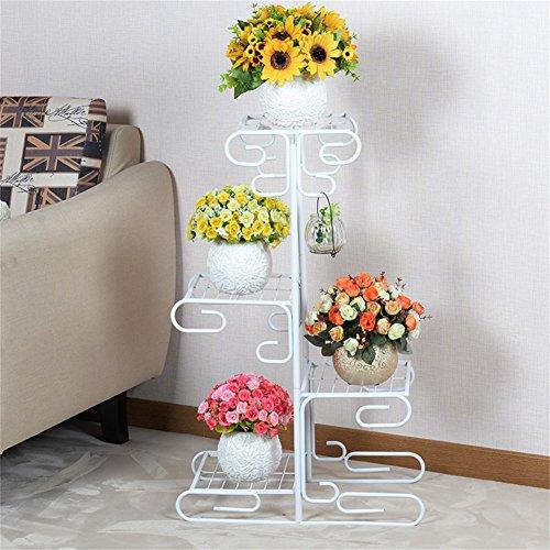 Supports de fleur de fer/présentoir multifonctionnel intérieur de pot de fleur de style de plancher