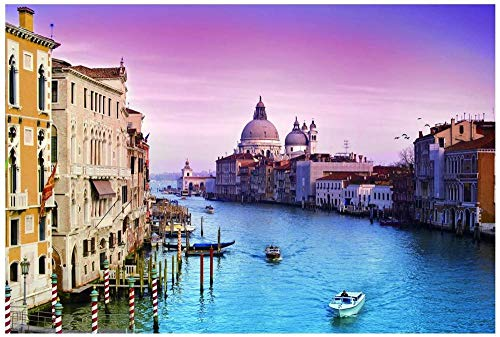 Jigsaw Puzzle 1000 Pieces of Wooden Puzzle Puzzle Romantic Adult Venice Puzzle Brain Teaser Fun Game Brain Toy IQ Development Toy Venice