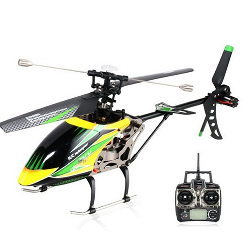 S-idee 01141 / 4.5 canales, 2.4 GHz helicópteros controlados de radio de RC V912 helicóptero heli / transporte con pantalla LCD, 2,4 GHz tecnología de giroscopio & nbsp;! para el producto interior y exterior con giroscopio incorporado nueve de dirección de 2,4 GHz listos para volar
