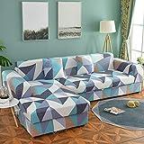 Funda de sofá de Envoltura Ajustada geométrica Funda de sofá elástica Necesita Pedir Funda de sofá de 2 Piezas Si sofá de Esquina Estilo L A17 1 Plaza