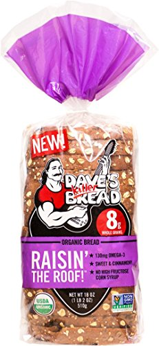 RAISIN THE ROOF ORGANIC BREAD (Sweet & Cinnamony) 18oz Loaf