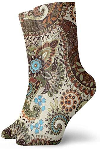 NA Herren Socken Paisley nahtloses Muster Lustige Polyester Crew Socken