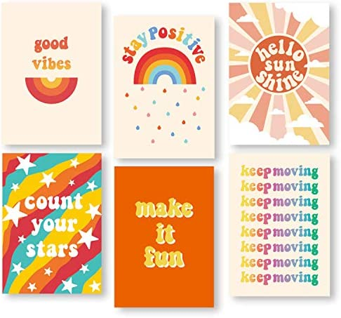 Whaline VSCO Wall Art Print Posters 6 Pack Motivational Quotes Posters Inspirational Positive product image